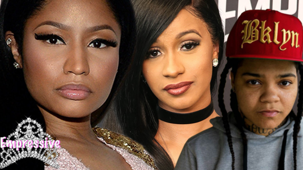 Nicki Minaj publicly supports Cardi B. and Young MA. Is this the new Nicki??